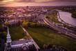 Aerial New Brunswick Sunset