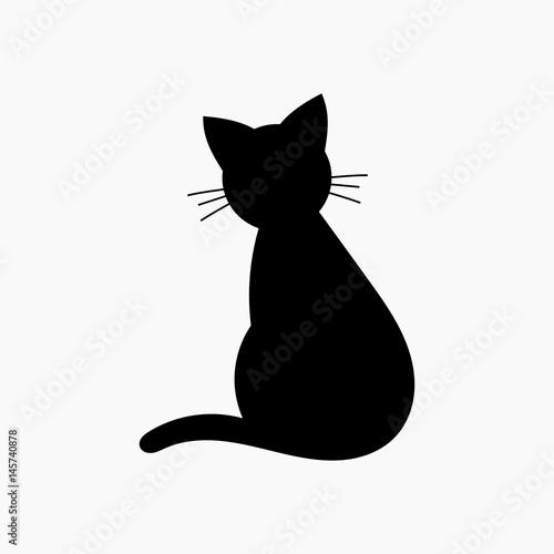 Fototapeta Cat shape icon