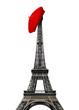 Paris landmarks, Eiffel tower with red beret