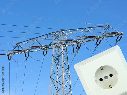 Energieversorgung, Steckdose, Strom Poster