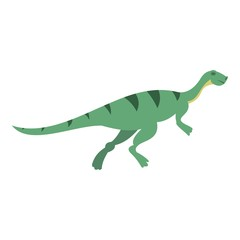 Gallimimus dinosaur icon isolated