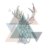 Geometric reindeer illustration - 145777074