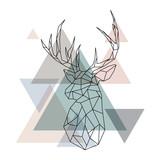Geometric reindeer illustration - 145777074