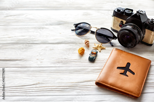 Poster travel and wanderlust concept, summer vacation background, space for text