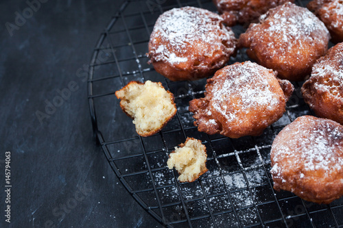 Poster Fresh delicious homemade warm apple fritters