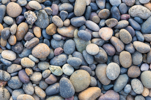 Small sea stones, gravel. Background. Textures	 - 145805096