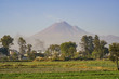 The beautiful Popocatepetl Mountain