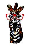 Zebra with sunglasses