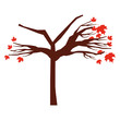 tree dry isolated icon vector illustration design