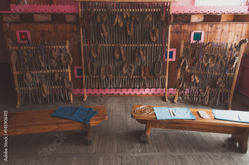 Zdjęcia Exhibition bast of birch bark,