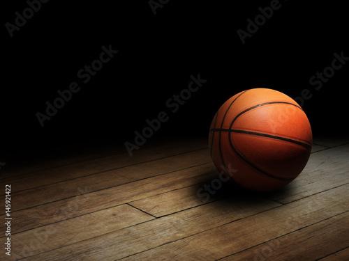 Fotobehang Basketbal Basketball on Court