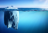 Iceberg Floating On Sea - Appearance And Global Warming Concept - 145924672