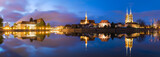 Wroclaw, Poland-night panorama of old town