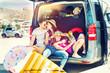 holiday family car trip
