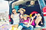 family holiday car trip  - 145930491