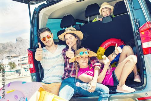 family holiday car trip