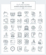 Outline Icons of Banking and Finance