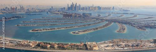 Dubai The Palm Jumeirah Palme Insel Panorama Marina Luftaufnahme Luftbild Poster