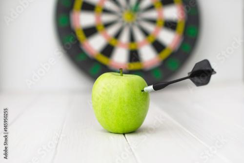 Green apple dart Poster