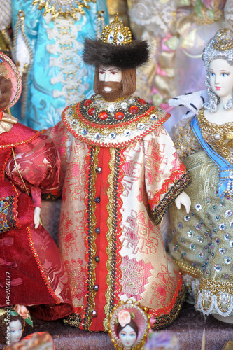 Russian historical dolls in a dress