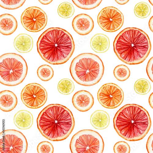 akwarela-bezszwowe-wzor-z-plasterkami-owocow-cytrusowych-cytryna-limonka-pomarancza-grejpfrut-lata-wielostrzalowy-tlo-odizolowywajacy-na-bielu