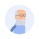 Old Man - Flat Design