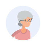 Old Woman - Flat Design