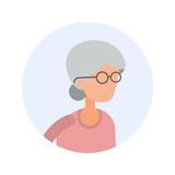 Old Woman - Flat Design