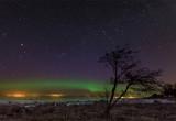 Northern Lights on Lake Ladoga, Leningrad Region, Russia