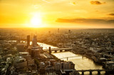 Beautiful sunset over of city London, England - 145977246
