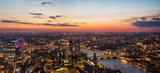 Beautiful sunset over old town of city London, England - 145977276
