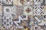 Colorful Moroccan tiles, ornaments, mosaic floor texture - 145978893