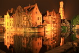 Bruges night reflections