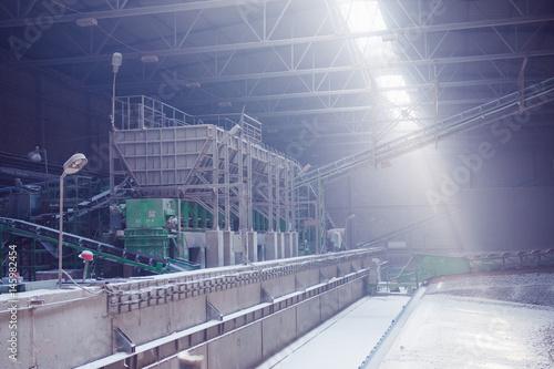 Fotobehang Oude verlaten gebouwen Industrial interior of an old factory building