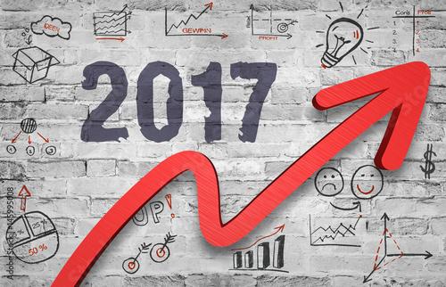 Poster Das Jahr 2017 durch kluge Strategien im Aufwärtstrend
