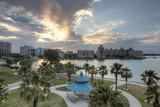 Sarasota Florida Sunrise Over Bridge Park - 145995473