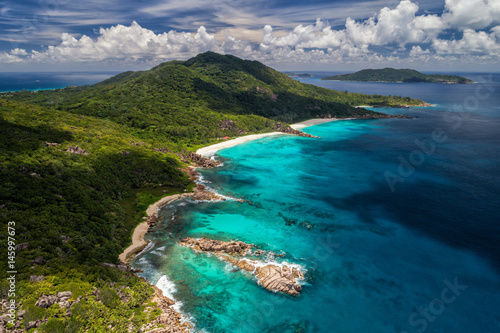 Foto op Plexiglas Zanzibar Beautiful nature at the Seychelles