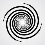 black spiral swirl circle with brush vector illustration - 146000277