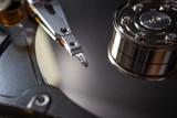 Hard disk scrap electronics  image closeup - 146008860