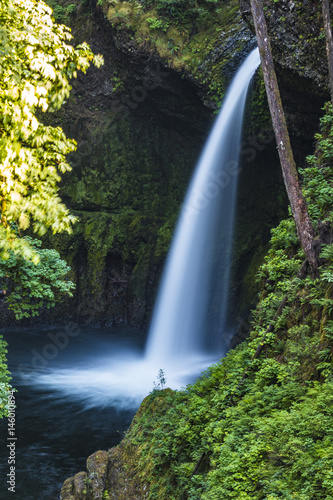 giant waterfall in a rainforest - 146010894