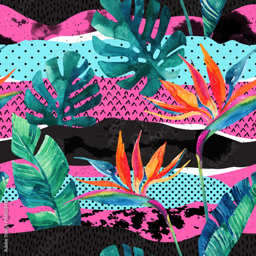 Abstract tropical summer design seamless pattern. - 146028495