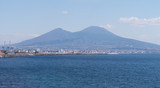 View of Mount Vesuvius from Naples