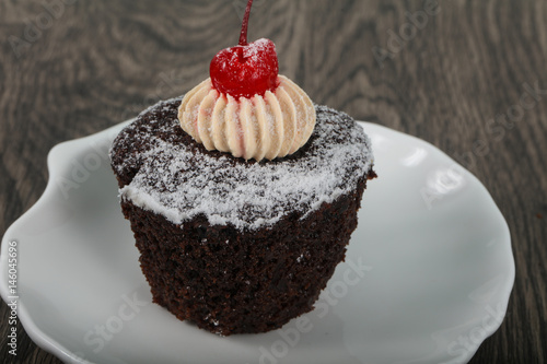 Cupcake with cherry Poster