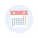 Calendar - Flat Design