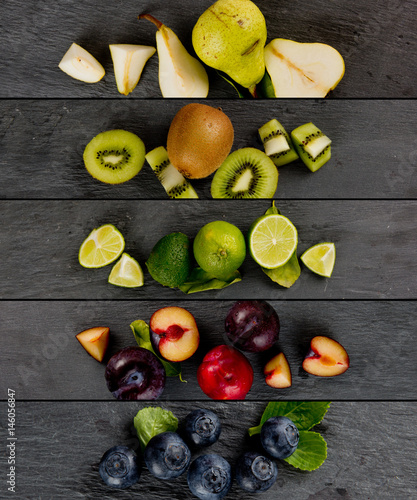 Fruit Mix Stripes - 146056847