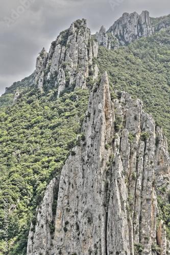 Plagát Gorges de la Pierre lys dans les Pyrénées audoises, Occitanie dans le sud de la