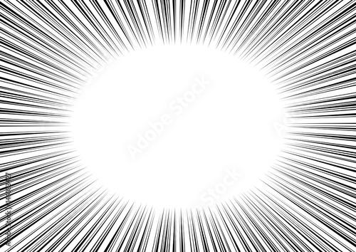 マンガ コミック 集中線 Radial Speed Lines - 146083427