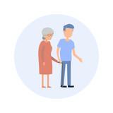 Senior Grandma - Flat Design