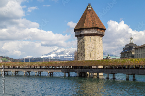 The Chapel Bridge in Lucerne Poster