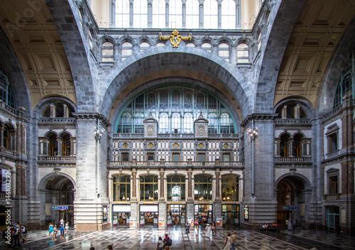 Aluminium Antwerpen Railway station in Antwerpen Belgium.